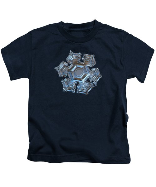 Snowflake Photo - Cold Metal Kids T-Shirt
