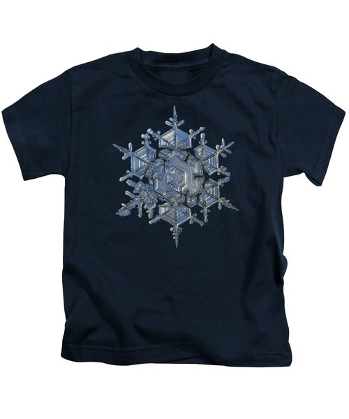 Snowflake Photo - Crystal Of Chaos And Order Kids T-Shirt