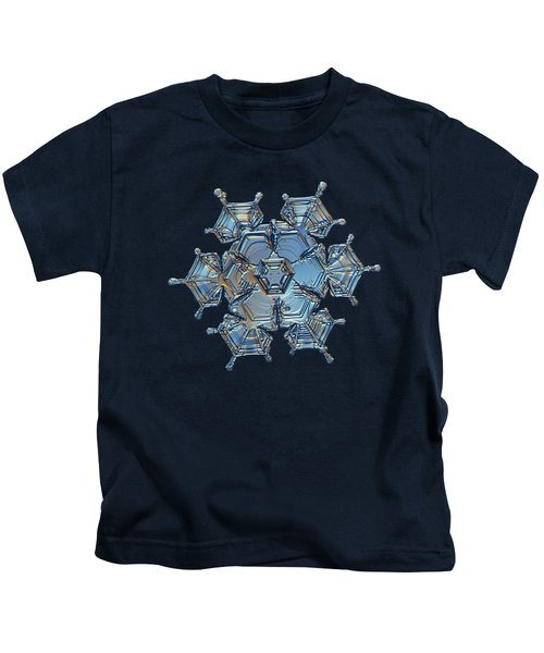Snowflake Photo - Flying Castle Kids T-Shirt