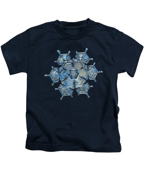 Snowflake Photo - Flying Castle Alternate Kids T-Shirt