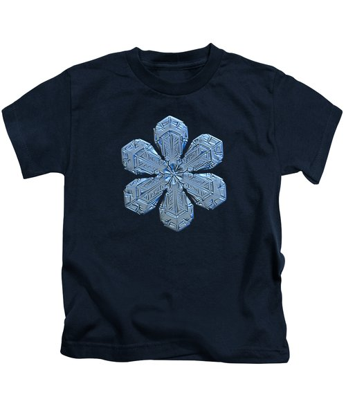 Snowflake Photo - Forget-me-not Kids T-Shirt