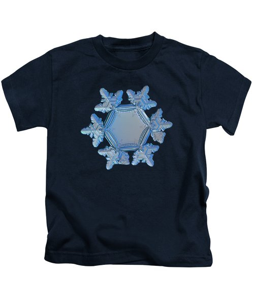 Snowflake Photo - Sunflower Kids T-Shirt