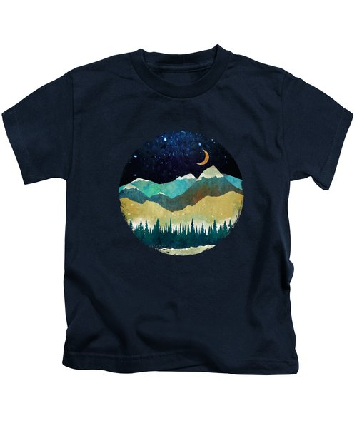 Snowy Night Kids T-Shirt