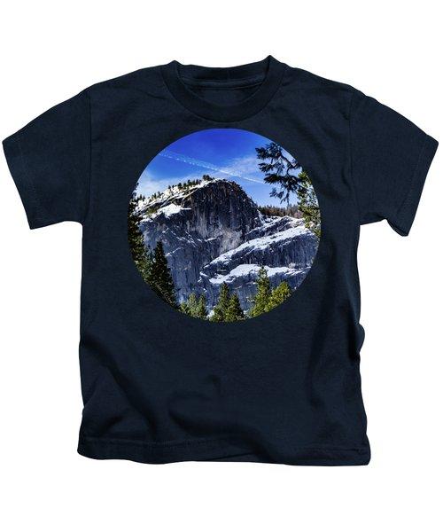 Snowy Sentinel Kids T-Shirt by Adam Morsa