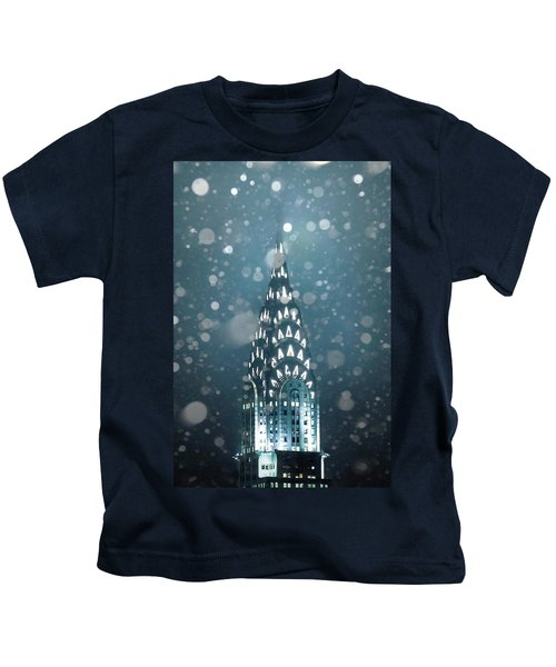 Snowy Spires Kids T-Shirt by Az Jackson