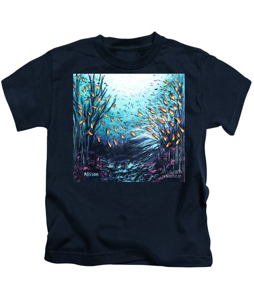 Soldier Fish And Coral  Kids T-Shirt
