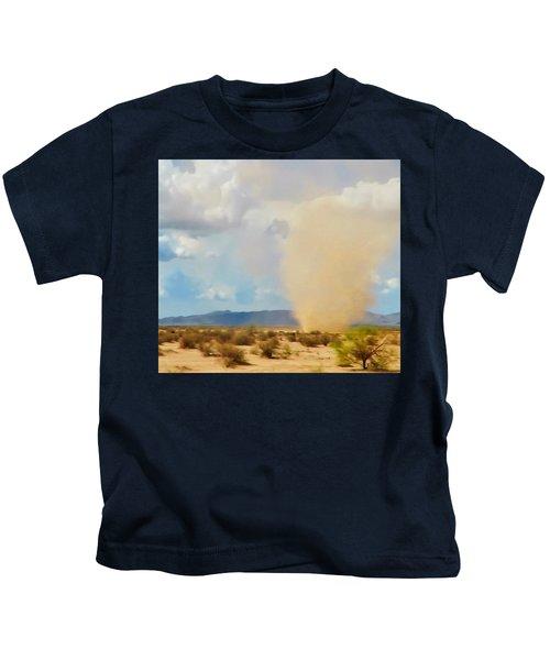 Sonoran Desert Dust Devil Kids T-Shirt