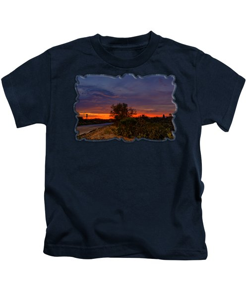 Sonoran Sunset H48 Kids T-Shirt by Mark Myhaver