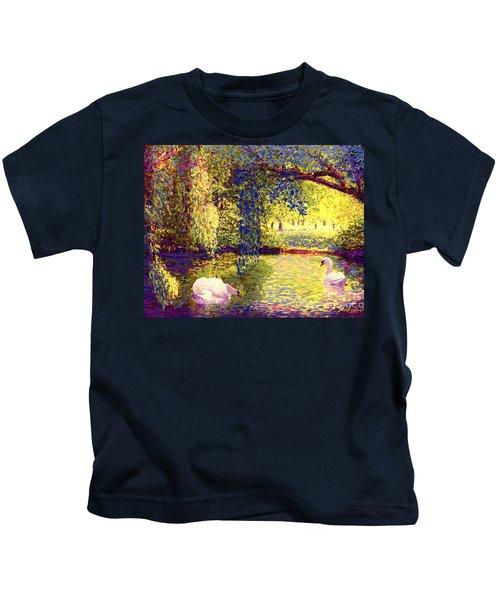 Swans, Soul Mates Kids T-Shirt