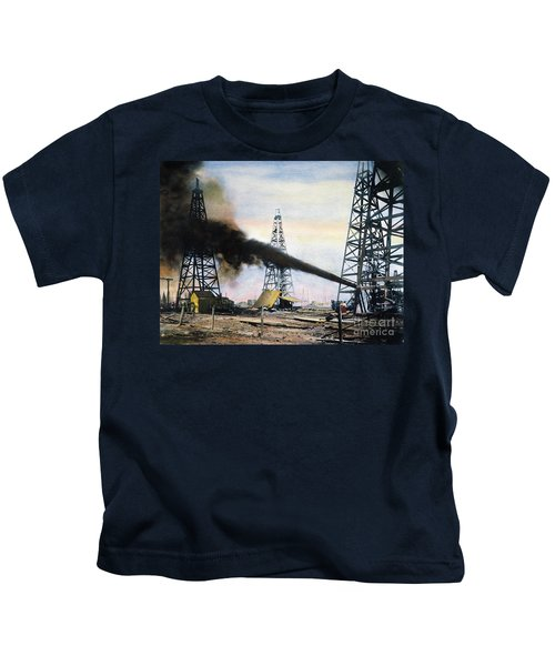 Spindletop Oil Pool, C1906 Kids T-Shirt