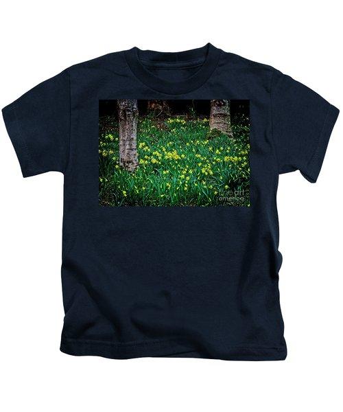 Spring Daffoldils Kids T-Shirt