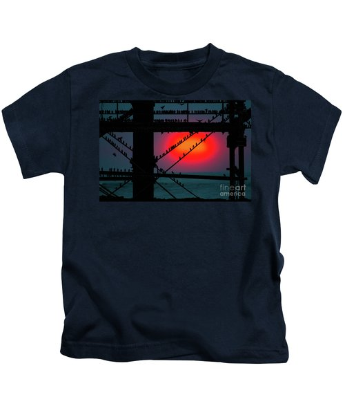 Starlings Against The Setting Sun Kids T-Shirt