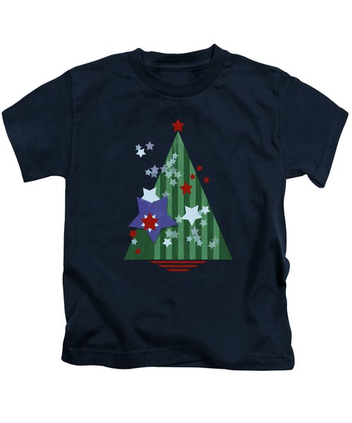 Stars And Stripes - Christmas Edition Kids T-Shirt by AugenWerk Susann Serfezi