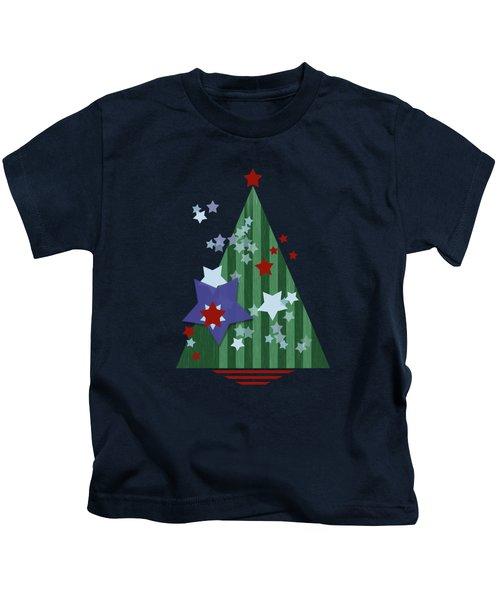 Stars And Stripes - Christmas Edition Kids T-Shirt