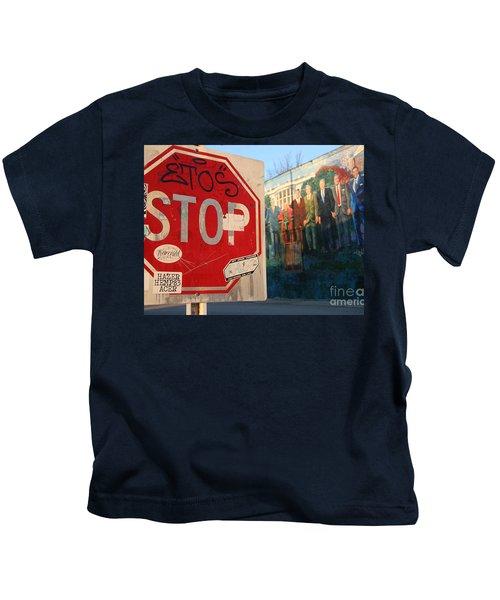 Street Art Washington D.c.  Kids T-Shirt by Clay Cofer