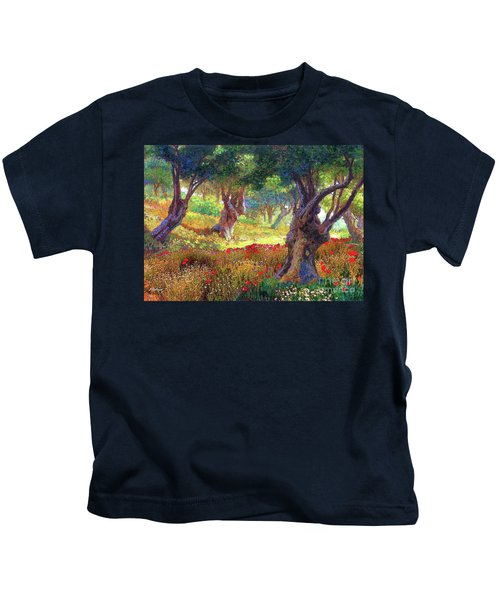 Poppies And Olive Trees Kids T-Shirt