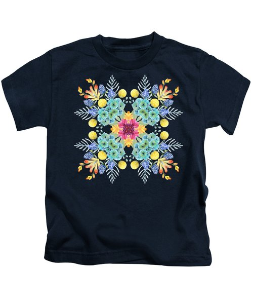 Summer Garden Pattern Kids T-Shirt