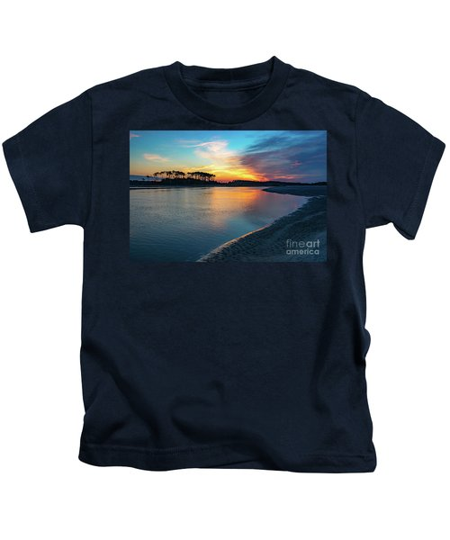 Summer Sunrise At The Inlet Kids T-Shirt
