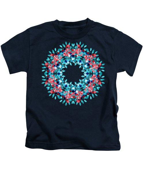 Summer Wreath Kids T-Shirt by Mary Machare