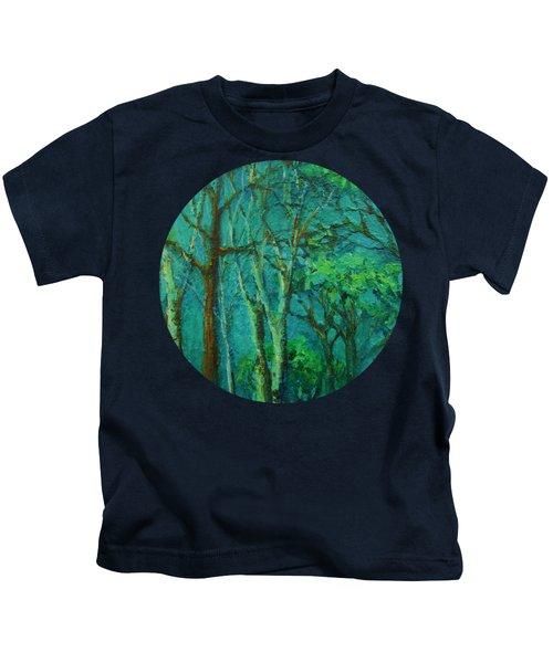 Sunlit Woodland Path Kids T-Shirt