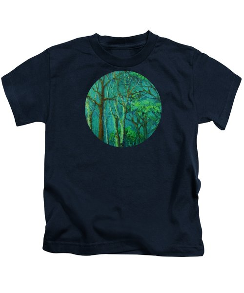 Sunlit Woodland Path Kids T-Shirt