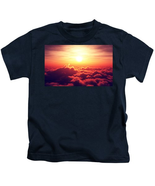 Sunrise Above The Clouds Kids T-Shirt