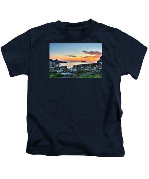 Sunrise At Castle Rock Marblehead Ma Kids T-Shirt