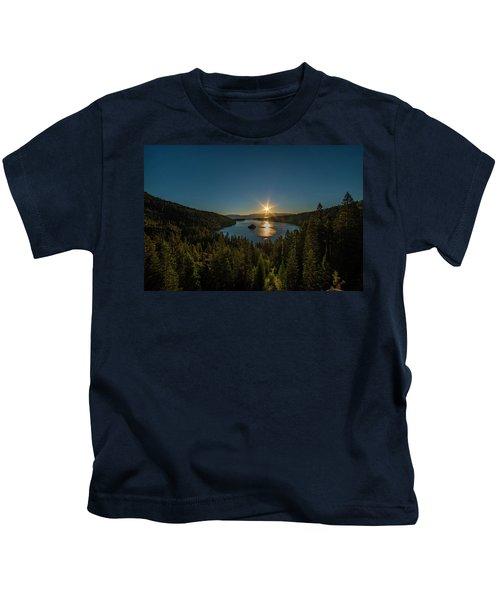 Sunrise At Emerald Bay Kids T-Shirt