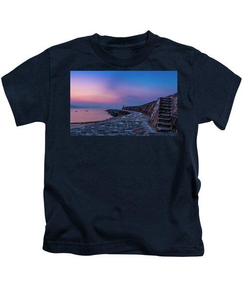 Sunrise On The Cobb, Lyme Regis, Dorset, Uk. Kids T-Shirt