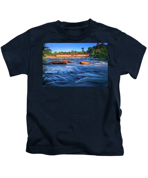Sunrise On Watson Mill Bridge Kids T-Shirt