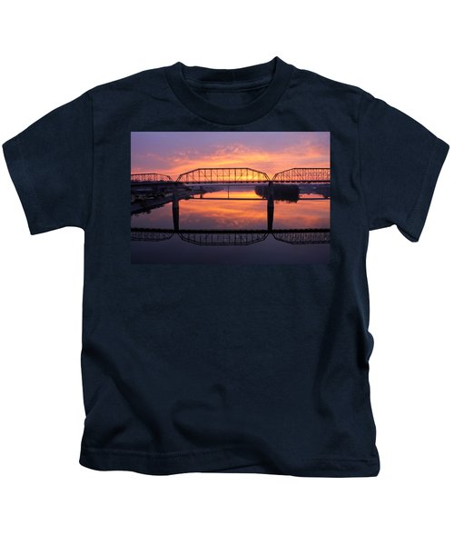 Sunrise Walnut Street Bridge 2 Kids T-Shirt