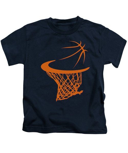 Suns Basketball Hoop Kids T-Shirt by Joe Hamilton