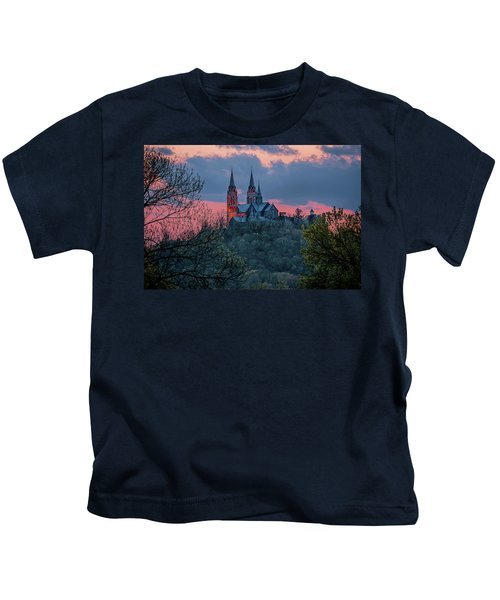Sunset At Holy Hill Kids T-Shirt
