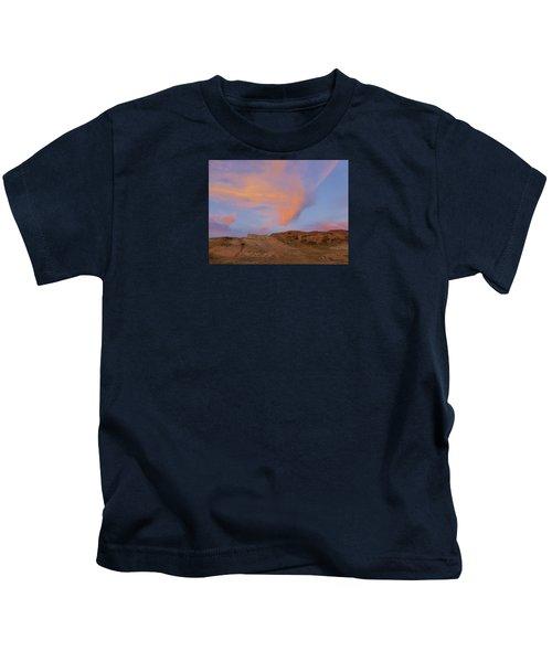 Sunset Clouds, Badlands Kids T-Shirt