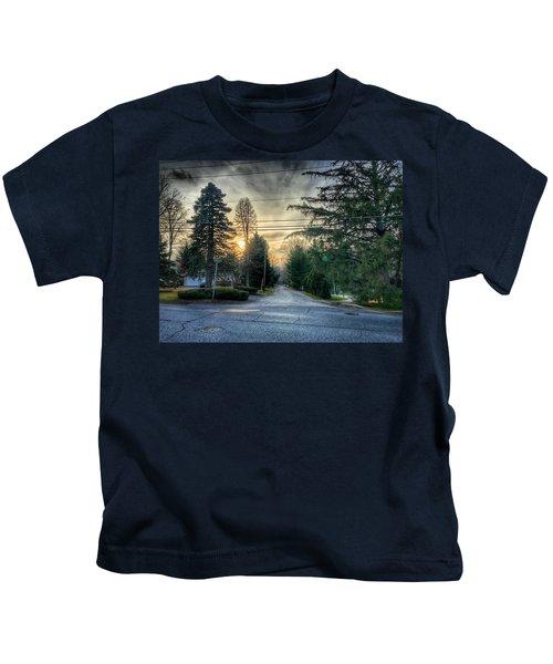 Sunset On Hilltop Drive Kids T-Shirt
