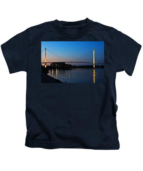 Sunset On The Bob Kerry Pedestrian Bridge Kids T-Shirt