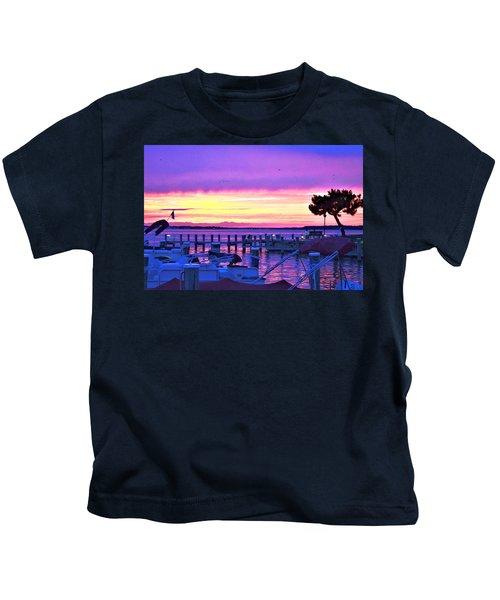 Sunset On The Docks Kids T-Shirt