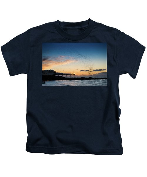 Sunset Over Aberystwyth Pier Kids T-Shirt