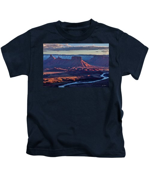 Sunset View From Omg Point Kids T-Shirt