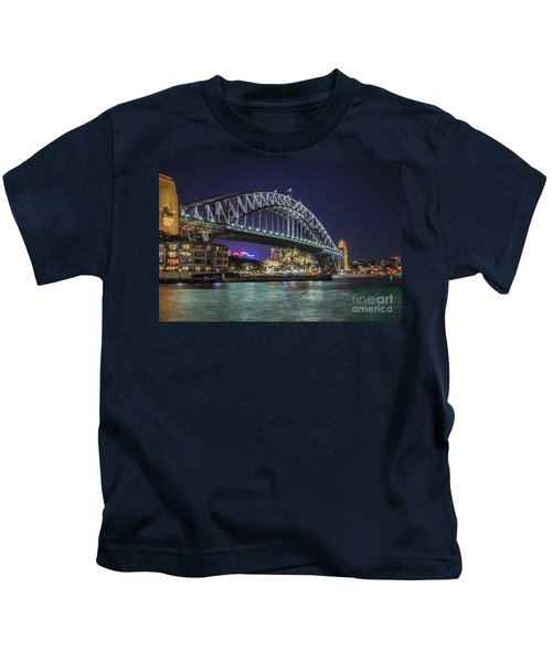 Sydney Harbor Bridge At Night Kids T-Shirt