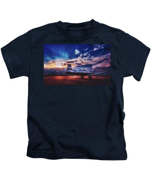 T-6a Texas II Trainer Kids T-Shirt