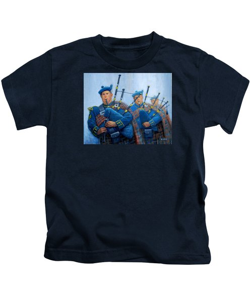 The Bagpipers Kids T-Shirt