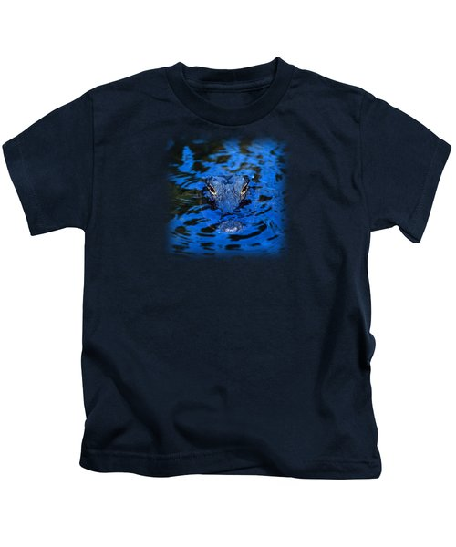 The Eyes Of A Florida Alligator Kids T-Shirt by John Harmon