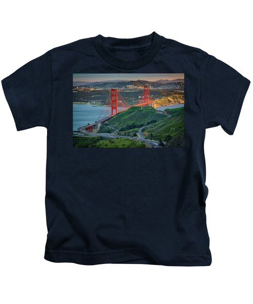The Golden Gate At Sunset Kids T-Shirt
