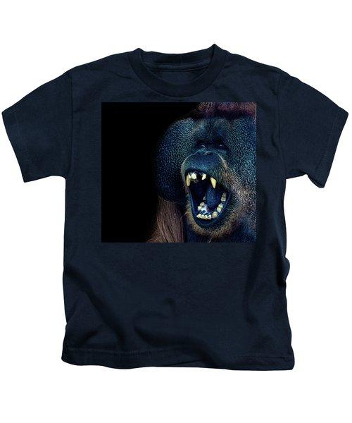 The Laughing Orangutan Kids T-Shirt by Martin Newman