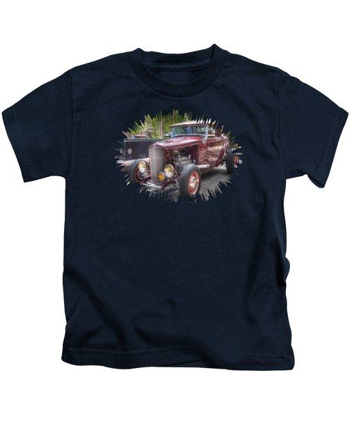 Maroon T Bucket Kids T-Shirt