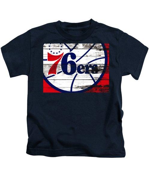 The Philadelphia 76ers 3e       Kids T-Shirt by Brian Reaves