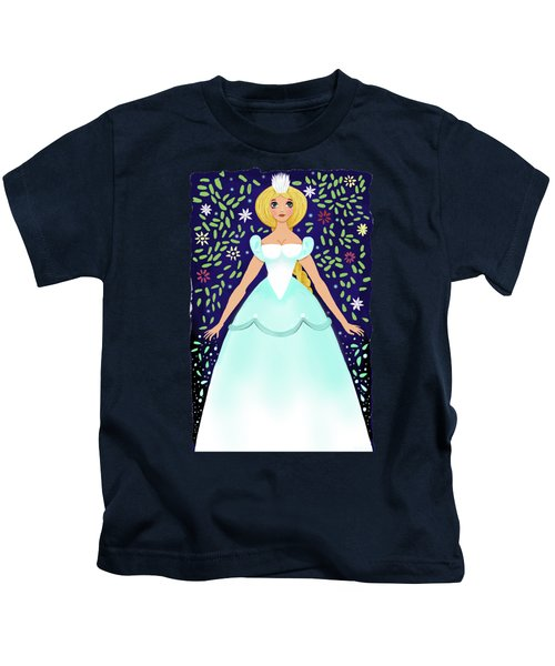 The Winter Fairy Brings The First Frost  Kids T-Shirt