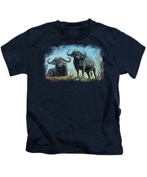 Tough Guys Kids T-Shirt by Anthony Mwangi