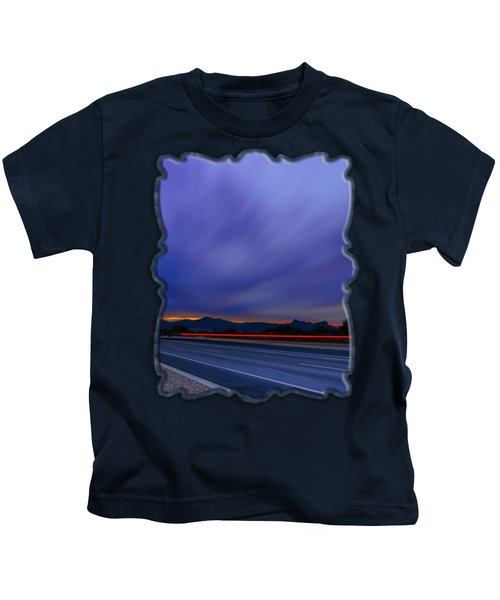 Traveling Sunset Blues V52 Kids T-Shirt